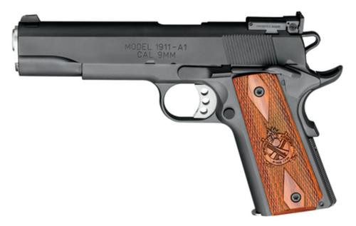 Springfield Model 1911-A1 Range Officer 9Mm 5 Inch Stainless Steel Barrel Blued Slide Low Profile Adjustable Sights 9 Round