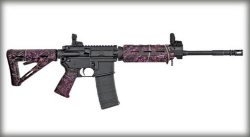 Sig M400 Enhanced AR-15 Rifle, 223/5.56, Magpul MOE, Muddy Girl Camo, Flip Up Sights, 30 Rnd Mag