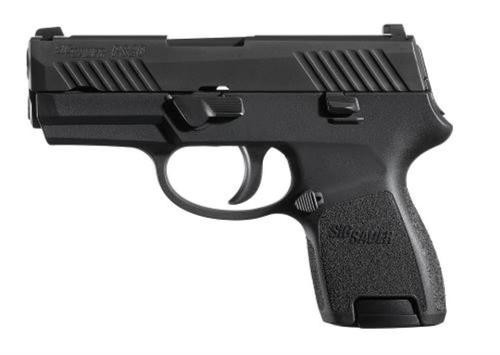 Sig P320 40 SW 3.6In Nitron Black, Striker Siglite Modular Polymer Grip (2) 10Rd Steel MAG Rail