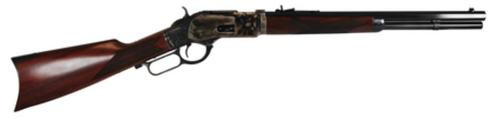 "Cimarron Firearms 1873 Saddle Rifle .45 Colt 18"" Octagonal Barrel Standard Blue Finish Walnut Stock 10rd"