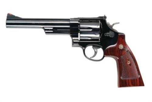 "Smith & Wesson Model 29 Classic .44 Mag/.44 Special, 6.5"" Barrel, Blue Finish, Wood Grip, 6rd"