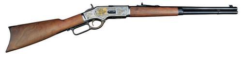 "Winchester 1873 45 Colt Black/Gold Lever 20"" Barrel Walnut Stock 10 Rd"