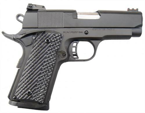 "Rock Island Armory 1911 Tactical II Compact, 45 ACP, 3.5"", 7rd, G10 Grips, Fiber Optic"