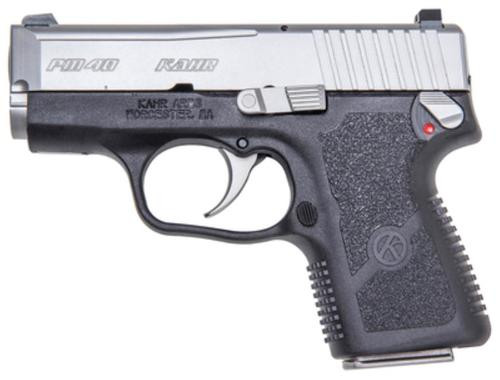 """Kahr PM40 Enahnced Compact .40 SW, 3"""" ,Black Polymer Frame Matte Stainless Slide, Night Sights, 6rd"""