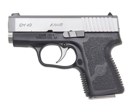 """Kahr CM40 Pistol, 40 S&W 3.0"""" Barrel Black Polymer Frame, Matte Stainless"""
