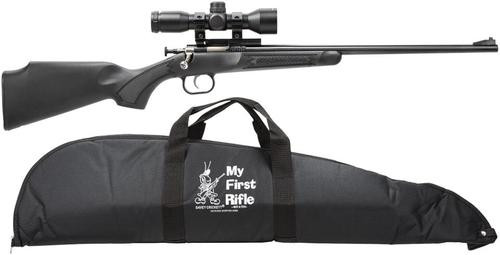 "Keystone Crickett 22LR, Scope/Case, 16.1"", Synthetic Black Stock Blued"