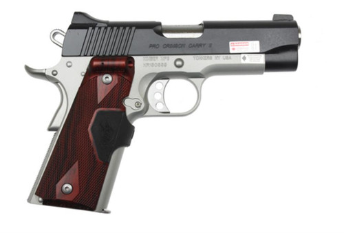 Kimber Pro Crimson Carry ll 45ACP Rosewood LaserGrips