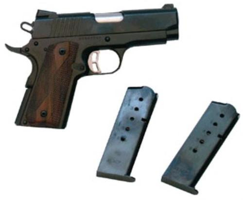 "Citadel 1911 Compact 45 ACP, 3.5"" Barrel/Blue Finish, Wood Grips"