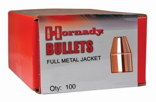 Hornady Reloading Bullets, 9mm .355, 115 GR, FMJ, 100 Per Box