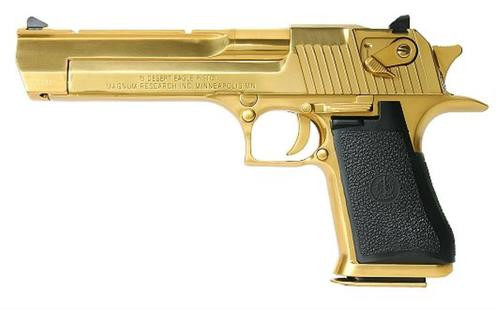 "Magnum Research Desert Eagle Mark XIX 44 Mag 6"" Barrel, Black Synthetic Titanium Gold, 8rd"