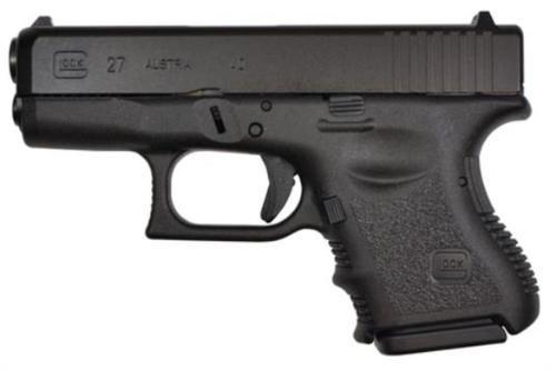 "Glock G27 Standard 40 S&W 3.46"" Barrel, FS Poly Grip/Frame Black, 9rd"