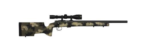 CZ 455 Varmint Precision Trainer Camo Suppressor Ready 1/2X28 22LR 5 Rd Mag Manners Stock 16.5 Barrel