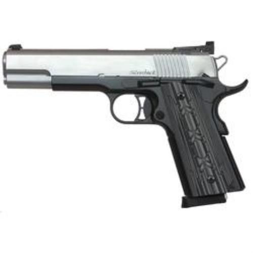 Dan Wesson Silverback 45 ACP, Stainless/Black Two Tone, Bomar Style Target Night Sights, 8rd Mags