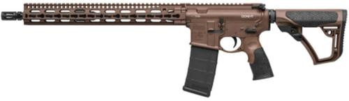 "Daniel Defense M4V11 Mid-Length 5.56 AR-15 Brown Cerakote Finish, 15"" KeyMod Forend 30 Rd Mag"