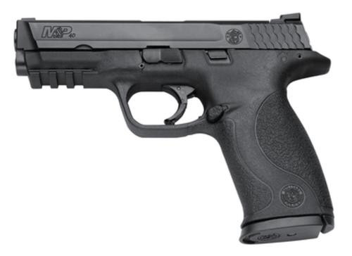"""Smith & Wesson M&P Full Size .40 SW 4.25"""" Barrel Black Melonite Finish Dot Front Sight Magazine Safety 10 Round - MA Compliant"""
