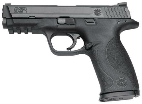 """Smith & Wesson M&P Full Size 9mm, 4.25"""" Barrel, Black Melonite Finish, 10 Pound Trigger White Dot Sights With Mag Safety 10 Round - Ma Compliant"""