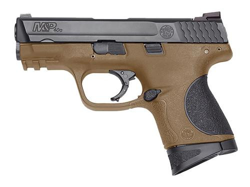 """Smith & Wesson M&P Compact .40 SW, 3.5"""" Barrel, Ambi Slide stop Flat Dark Earth, Polymer Frame, 8rd"""