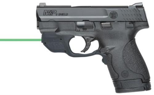 """Smith & Wesson M&P 9 Shield, Crimson Trace Double 9mm 3.1"""" 7rd/8+1 Black Poly Grips"""