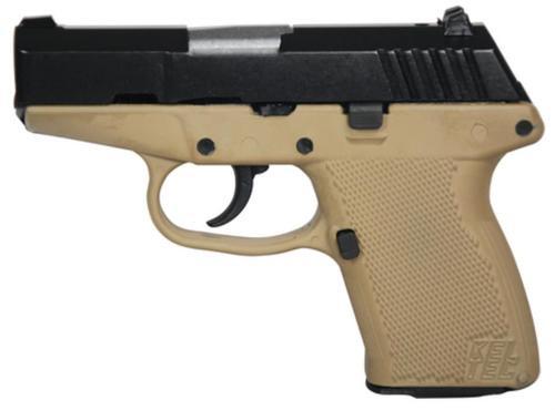 KelTec P-11 9mm 3.1 Inch Barrel Blue Slide Cerakote Tan Grip/Frame 10 Round