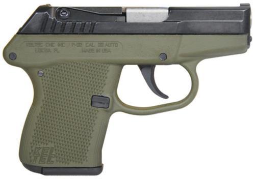 Kel-Tec P-32 DAO 32 ACP 2.5 7rd Green Polymer Grip Blued Finish