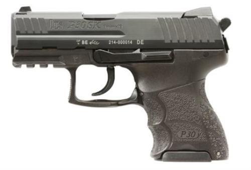 "HK P30 Subcompact, V3 9MM, 3.27"" Barrel, Adjustable Grip, Night Sights, 3-10rd Mags"