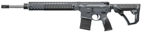"""Daniel Defense DD MK12 Carbine 5.56, 18"""" Barrel, Salt Bath Nitride, DD Stock Tornado Gray Cerakote, 30rd Mag"""