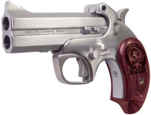 "Bond Arms Snake Slayer IV .45 Colt/410 4.25"" Barrel SS Satin Finish Extended Rosewood Grips 2 Shot"