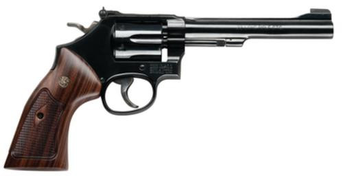 Smith & Wesson 48 Classic 22 Magnum 6 Inch Blued Barrel Wood Grips 6 Round