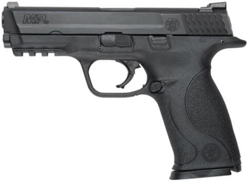 "Smith & Wesson M&P Full Size .40 SW, 4.25"" Barrel, Black Melonite Finish, Dot Front Sight, 10 Round - MA Compliant"