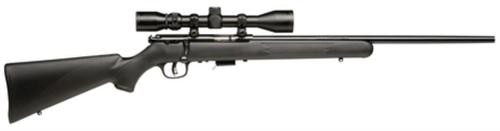 "Savage 93R17 FXP with Scope Bolt 17 HMR 21"" Barrel, Synthetic Black Stock Blued, 5rd"