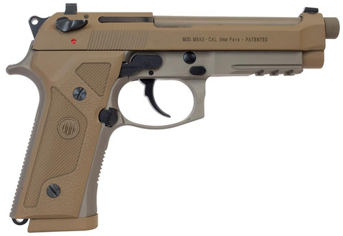 "Beretta M9A3 9mm, 4.9"" Barrel,  Flat Dark Earth, Ambi Safety, 10rd"