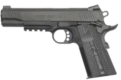 "Colt Combat Unit Rail Gun 9mm 5"" Barrel Black IonBond Finish"