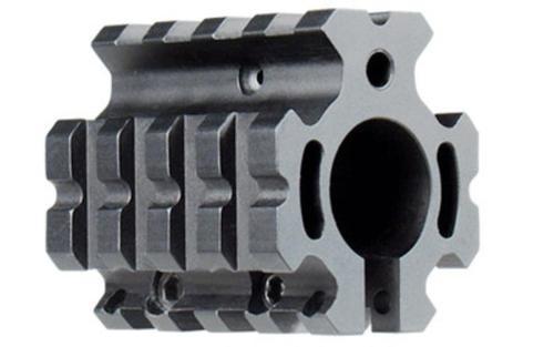 "Leapers, Inc. - UTG Model 4/15 Gas Block, Fits AR Rifles, Low Profile Quad Rail Gas Block for .75"" Barrel, Black"