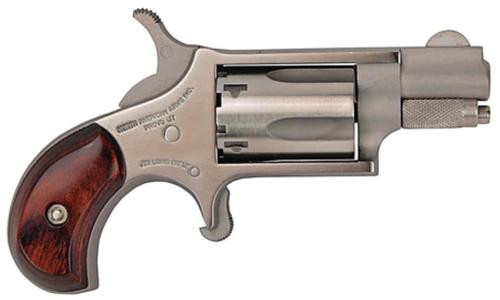 "NAA 22LR Mini-Revolver 22LR 1.12"" 5rd Rosewood Grip Stainless"