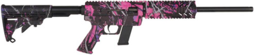 """Just Right Carbine 45 ACP 16.25"""" Threaded Barrel Collapsible Stock Muddy Girl Camo Finish Fixed 10rd Glock Magazine - CA Compliant"""