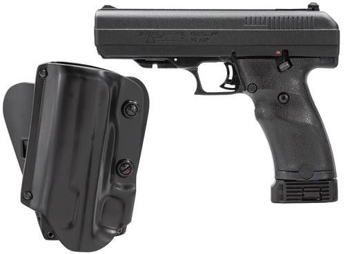 "Hi-Point 45 ACP, Galco Kydex Holster 4.5"" Barrel, Black Poly Grips Finish, 9rd"