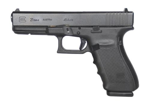 "Glock G21 Gen4 .45 ACP, 4.6"" Barrel, Fixed Sights, Black, 3x13rd Mag"