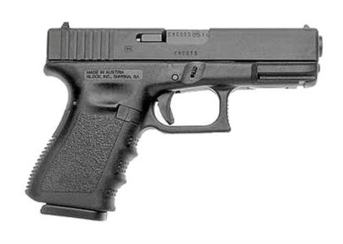 "Glock, 23, Safe Action, Compact Size Pistol, 40S&W, 4.01"" Barrel, Polymer Frame, Matte Finish, Fixed Sights, 13Rd, 2 Magazines, Glock OEM Rail, Right Hand"
