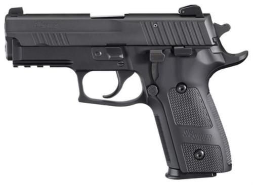 """SIG P229 Elite Dark 9mm 3.9"""", Siglite NS, Black Aluminum Grips 15 Round Mag"""