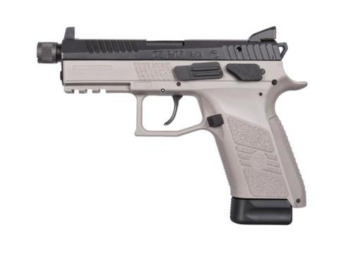 CZ P-07 9mm,, , Urban Grey Frame, Black Slide, Suppressor Ready, NS,,  10 rd