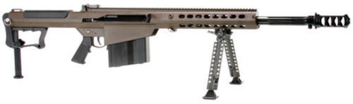 "Barrett M107A1 .50 BMG, 20"" Chrome Lined Fluted Barrel, Black Muzzle Brake, Multi Role Brown Cerakoted Receiver, 10rd"