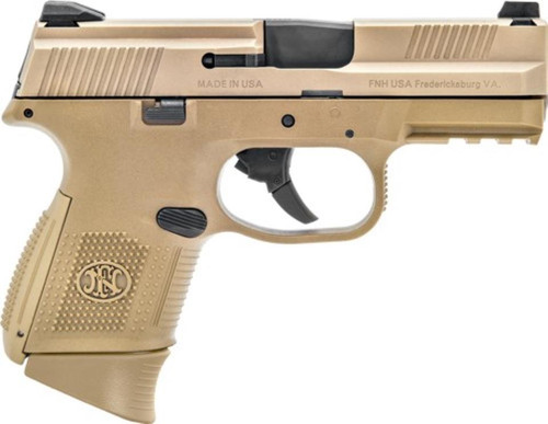 "FN FNS-9C 9mm Compact 3.6"" Barrel Full Flat Dark Earth 12rd Mag"