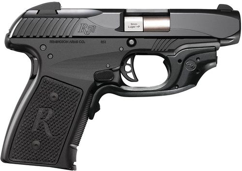 "Remington R51CT, Crimson Laser Grip 9MM 3.4"" Barrel Melonite Finish 7 Rd Mag"
