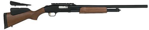 """Mossberg 500 Slugster Pump 12 ga 24"""" 3"""" Adjustable Wood Blue Finish"""