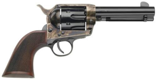 "Traditions Black Powder Frontier 1873 Single ActionArmy .45 Long Colt 4.75"" Barrel Case Hardened Finish Checkered Walnut Grip"