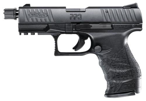 "Walther PPQ Tactical M2 .22 L.R. 4"" Barrel Black, Adapter 1 Mag 10 Rd Mag"