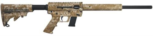 "Just Right Carbine Takedown 9mm 17"" Threaded Barrel Collapsible M4 Stock Desert Camo Finish Quad Rail Forend 17rd Glock or Glock Style Magazine"