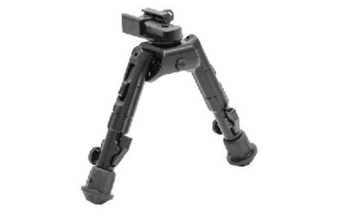 "Leapers, Inc. - UTG Recon 360 Bipod, Fits AR Rifles, 5.5""-7"", Adjustable 360-degree Panning with Multi-axial Tilting Base, Black"