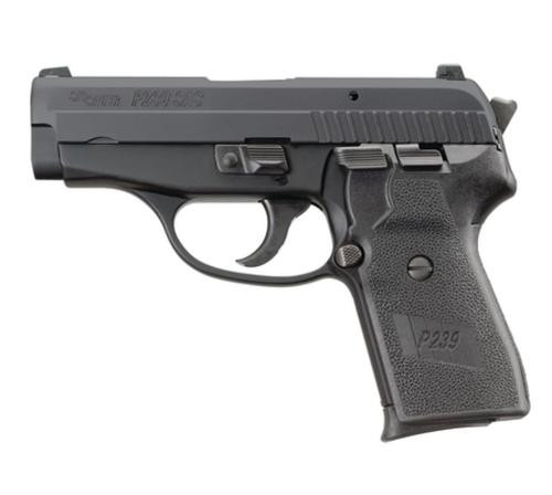 Sig P239 40 S&W 3.6In SAS Black Da/Sa Siglite Polymer Grip (2) 7RD Steel MAG Dehorned SRT