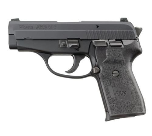 Sig P239 40 S&W 3.6In SAS Black Da/Sa Siglite Polymer Grip (2) 7RD Steel MAG Dehorned SRT